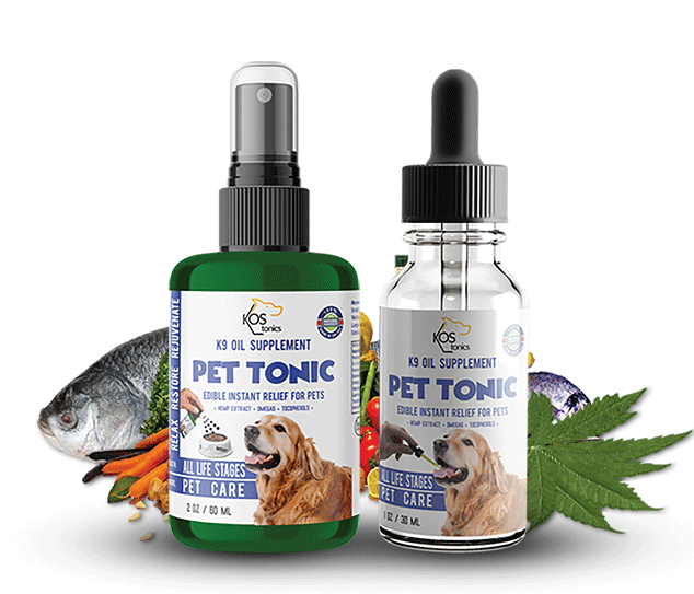 Organic Pet Products K9 Oil Supplements for dogs