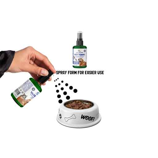 Supplement your dog's nutrition for 30 cents a day dog Supplements Spray